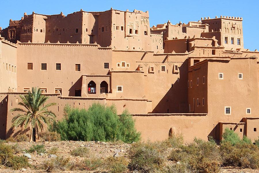 O Casbá de Taourirt em Ouarzazate, Marrocos