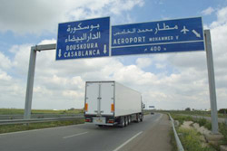 Auto-estrada em Marrocos