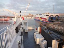 Barco de Espanha até Marrocos