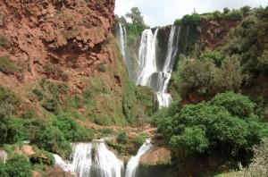 Cascatas de Ouzoud em Marrocos