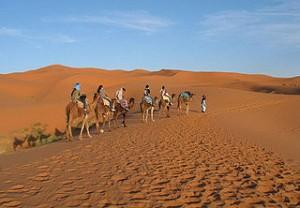 Dunas de Erg Chebbi em Marrocos