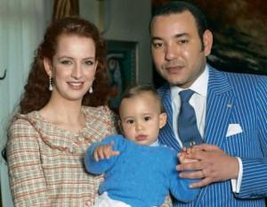 O Rei de Marrocos com a sua esposa