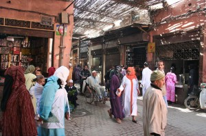 Roupa em Marrocos