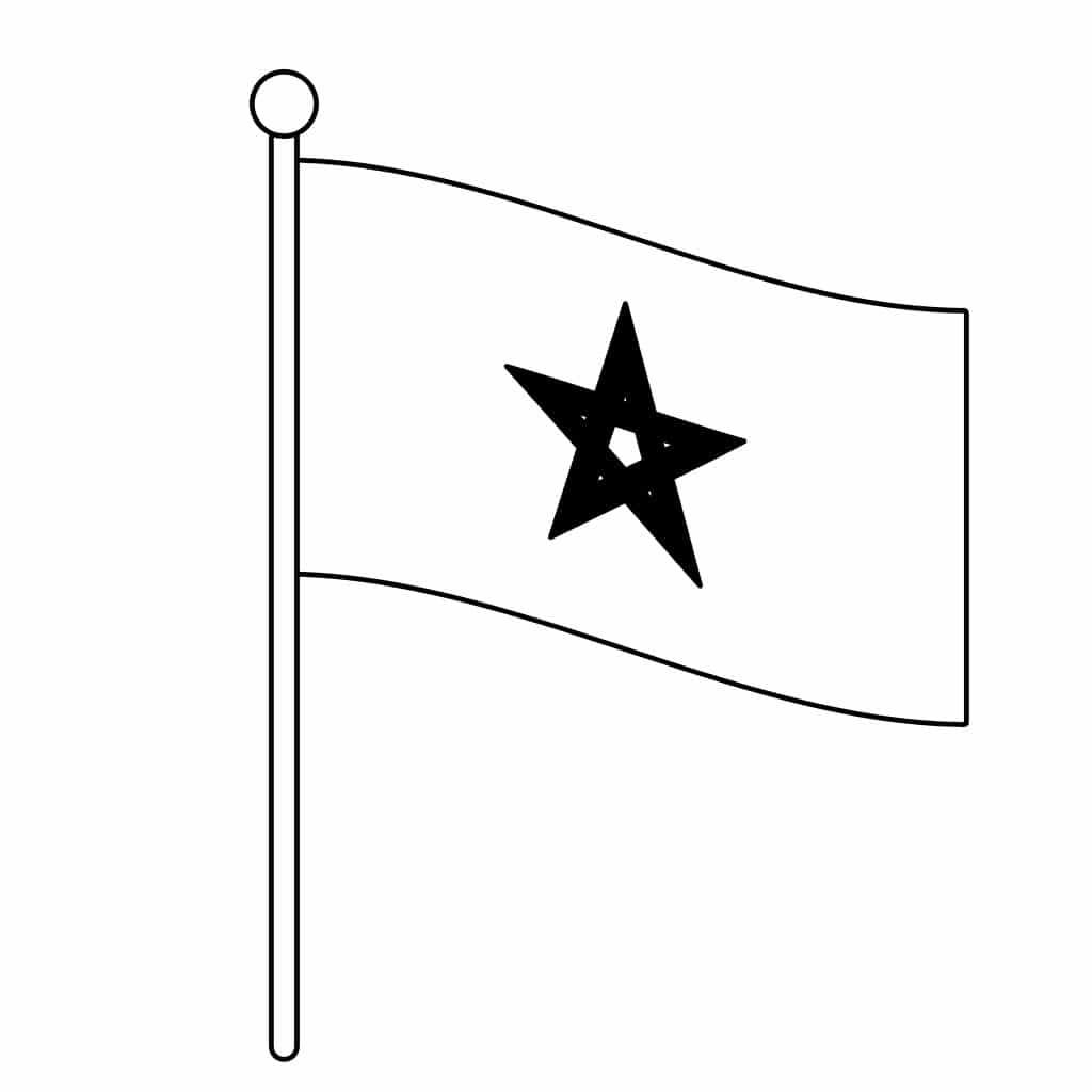 Bandeira do Marrocos para colorir