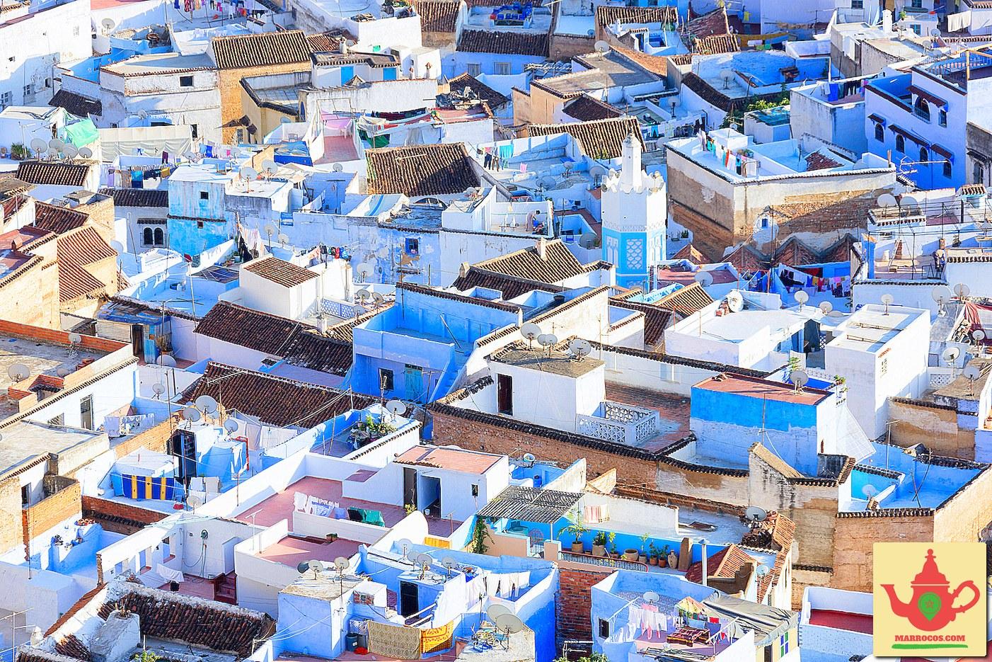 Medina de Chefchaouen em Marrocos