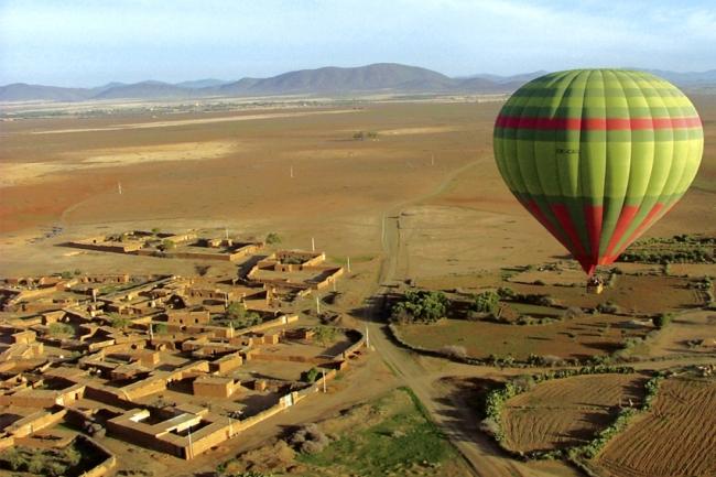 Ciel d Afrique voa com balao em Marrocos