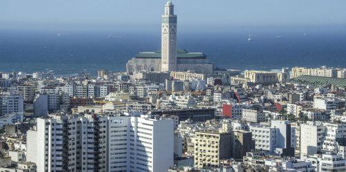 Cidade de Casablanca em Marrocos
