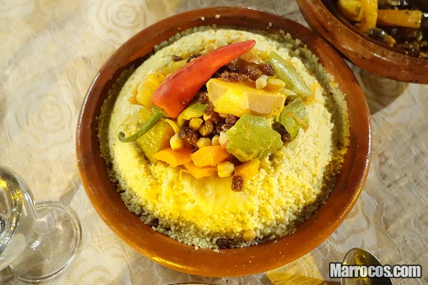 Receita de cuscuz marroquino com vegetais