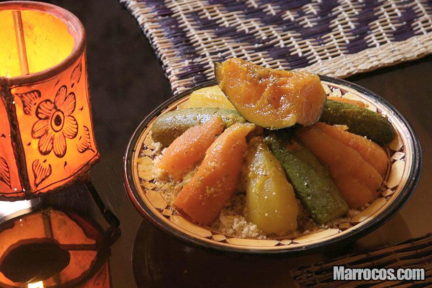 Cuscuz marroquino com abóbora