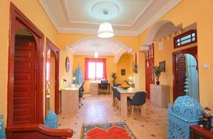 Dar Digital Nomad - 340 Euros por mês. Alojamento e Escritório. Espaço para viver e trabalhar em Marrocos.