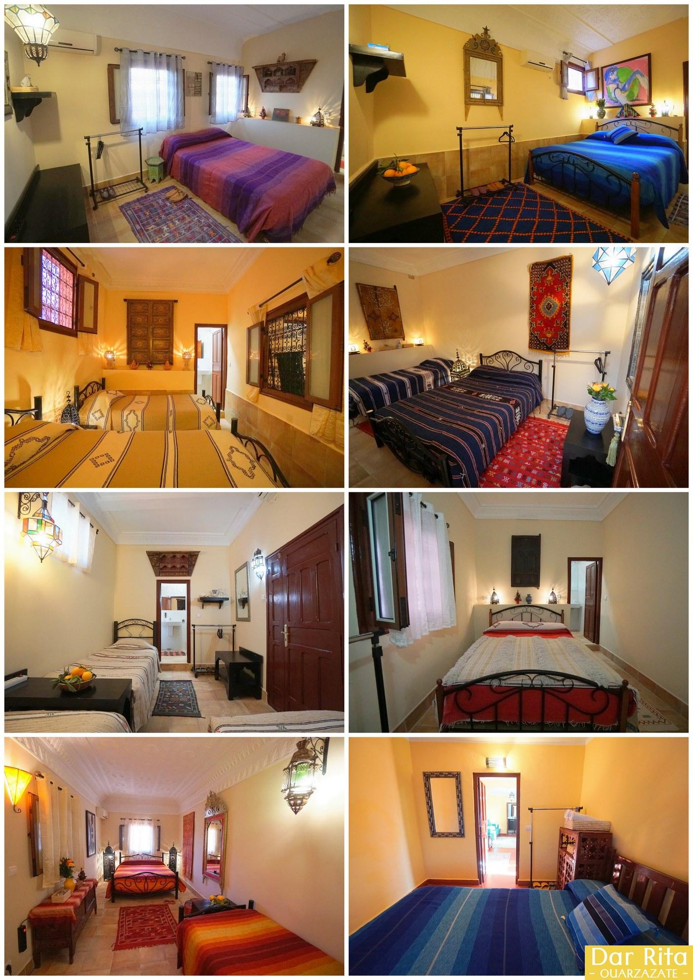 Os quartos no Dar Rita