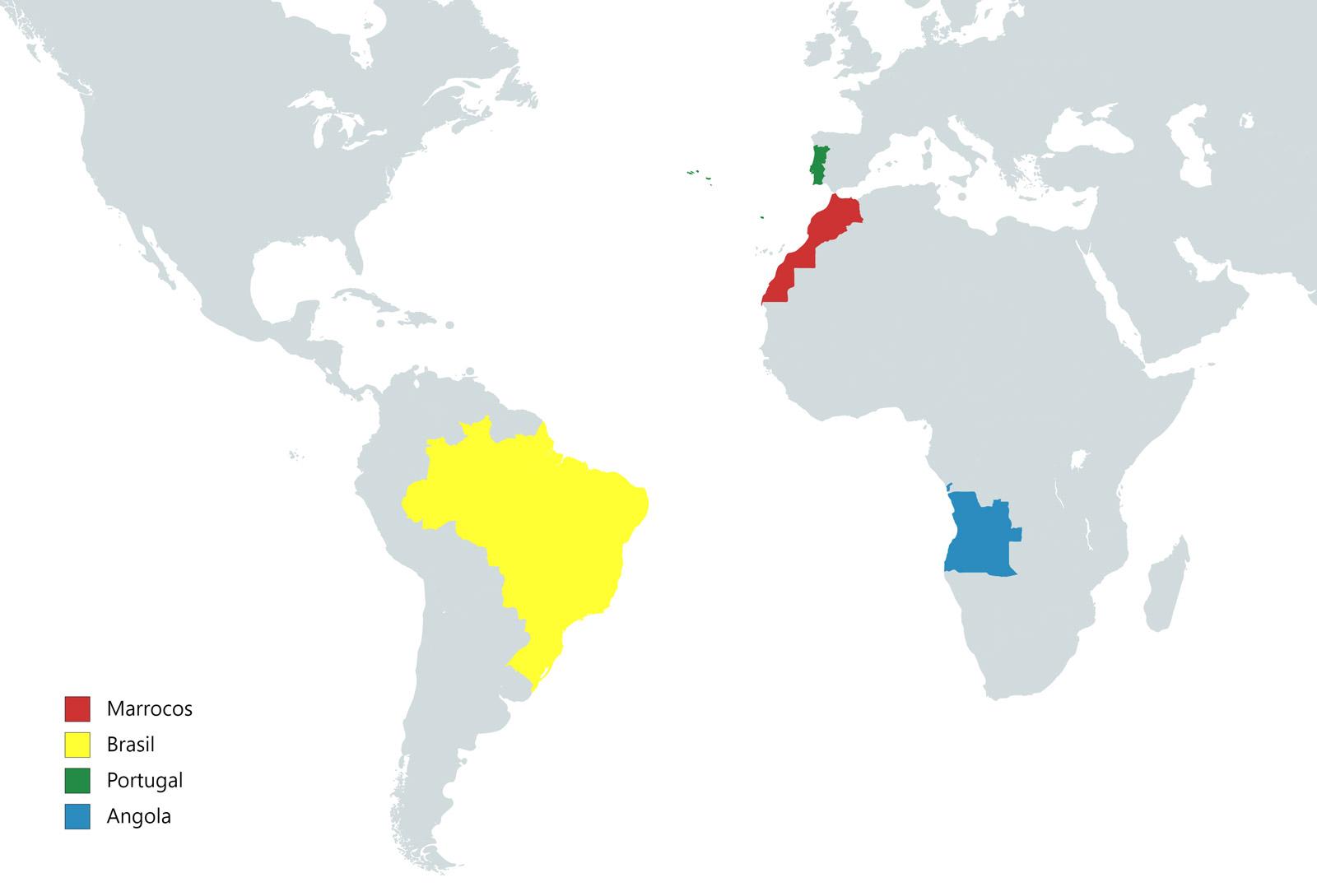 MAPA DE MARROCOS NO MUNDO