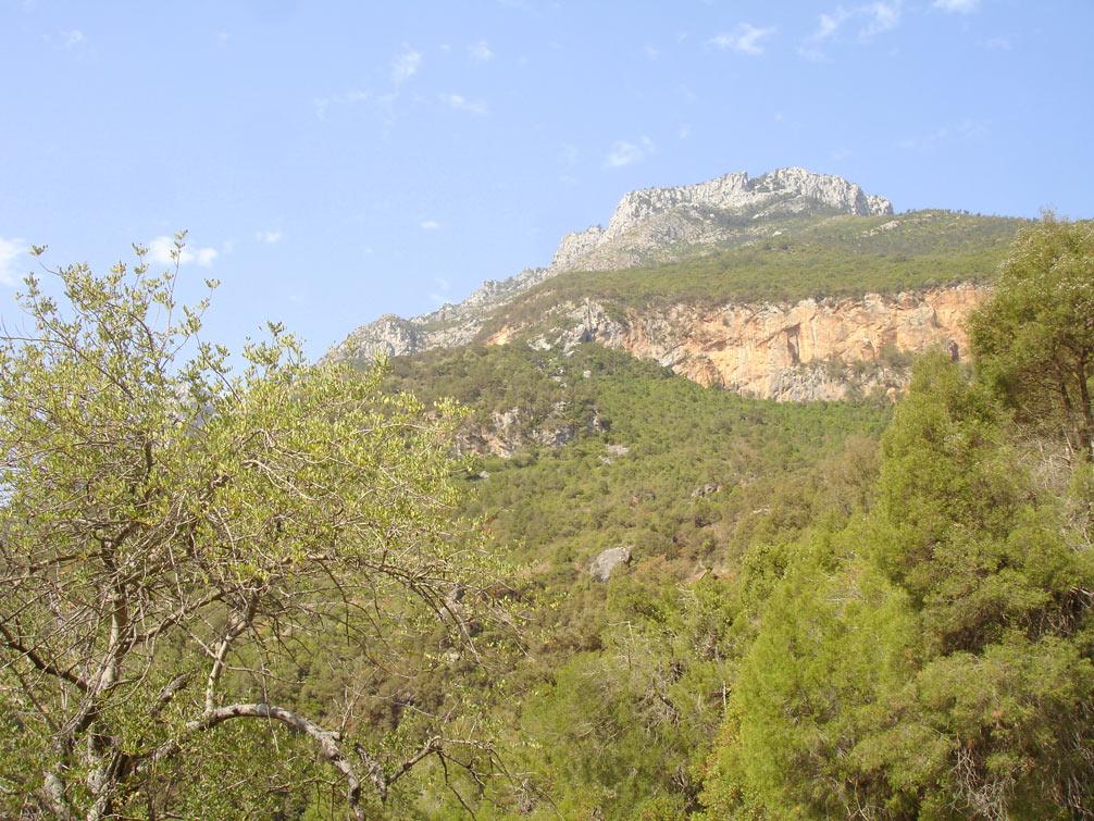 Paisagem nas Montanhas do Rife em Marrocos
