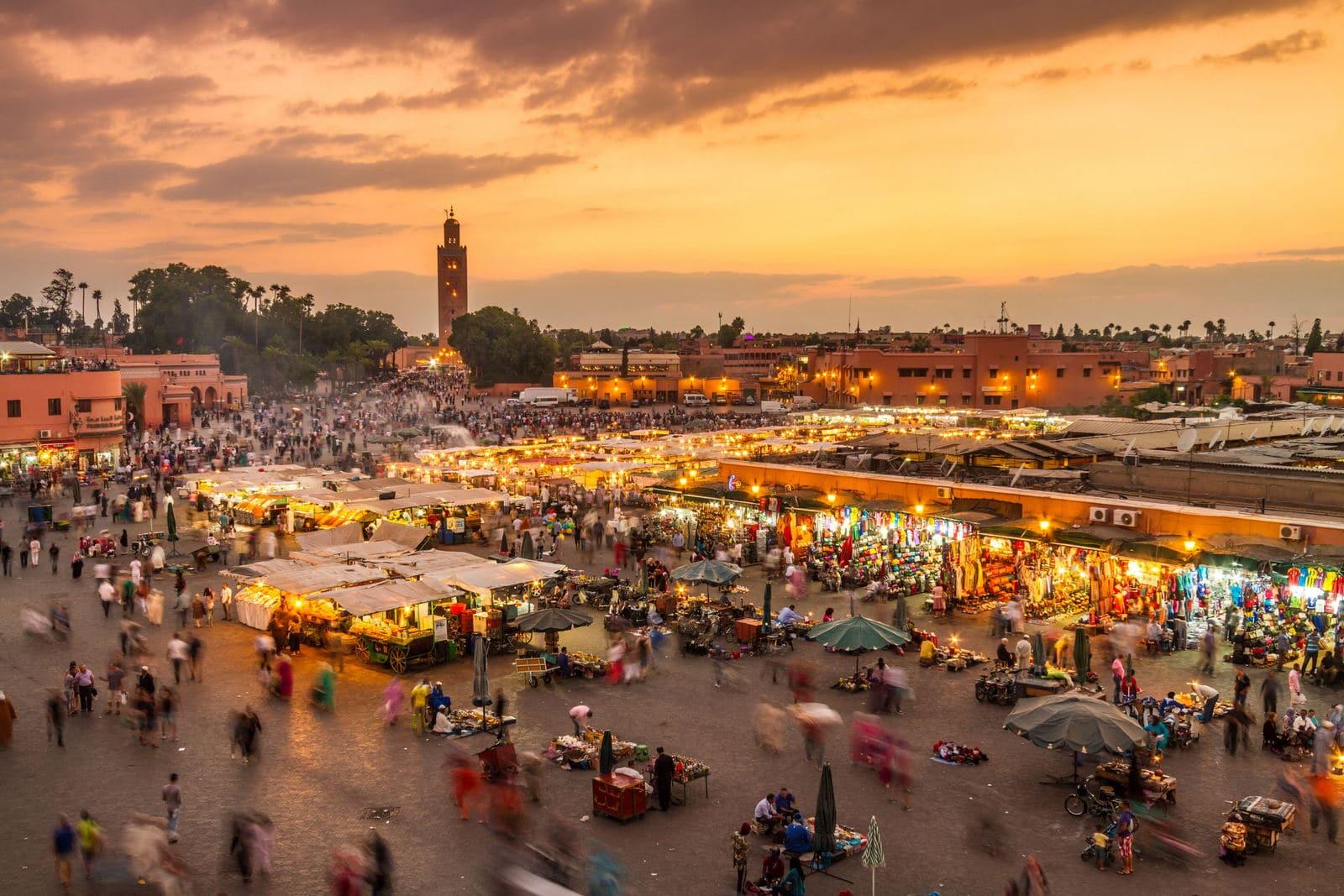 Cidade de Marraquexe em Marrocos