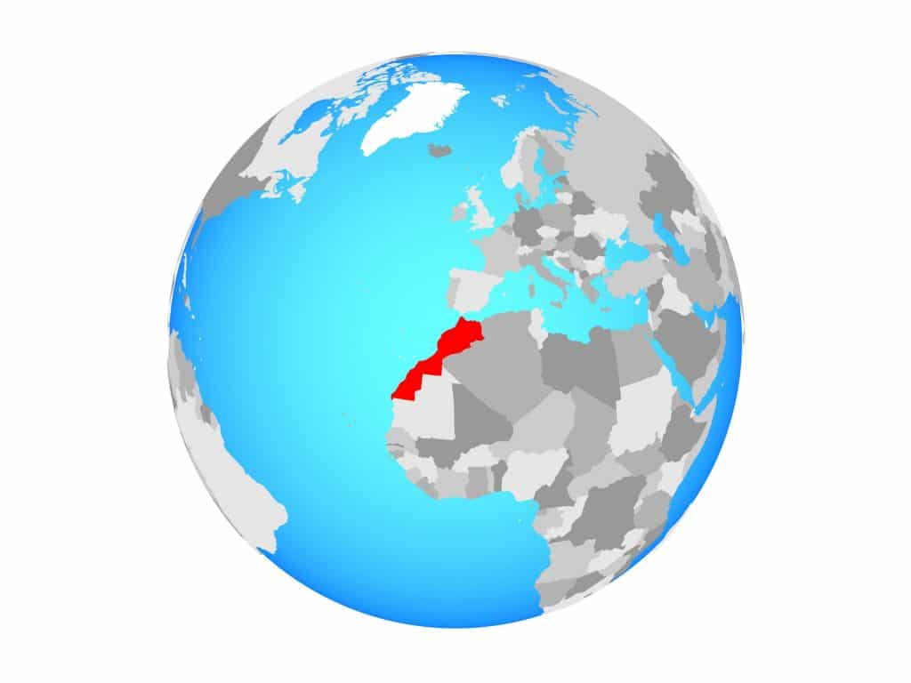Marrocos no mapa mundi