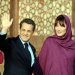 Carla Bruni e Nicolas Sarkozy em Marrocos