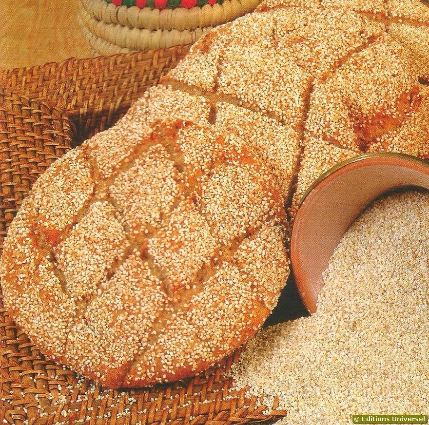 Pão de cevada marroquino