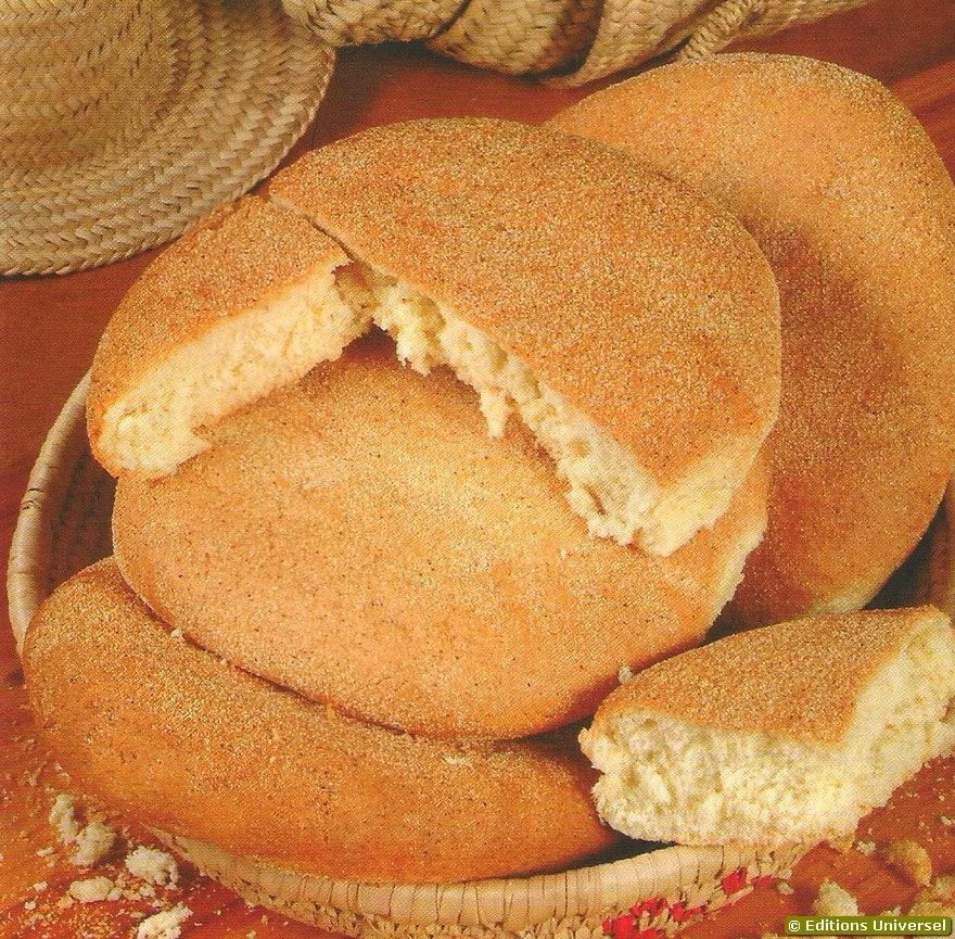 Pão de trigo marroquino
