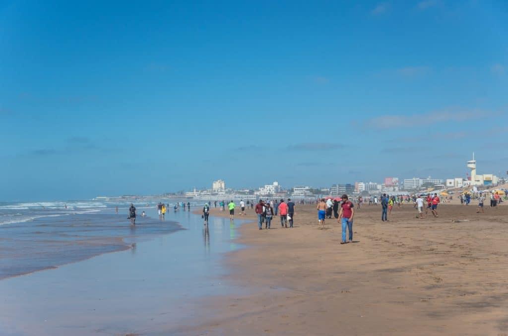 Praia em Casablanca