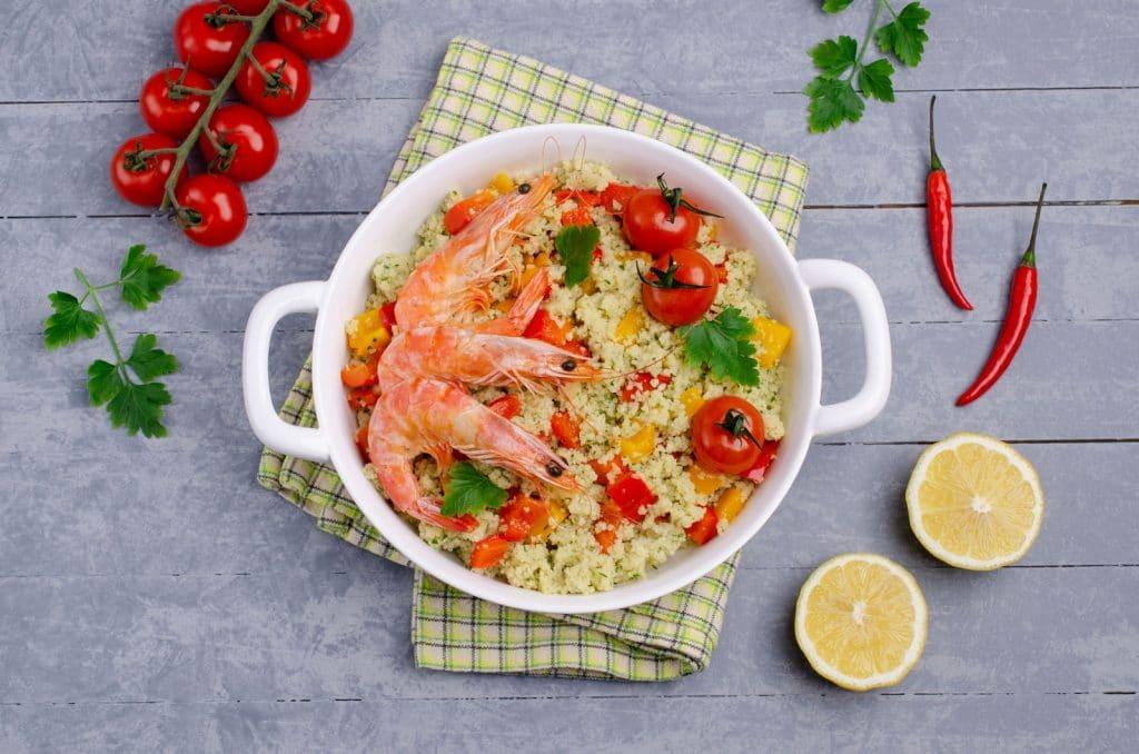 Receita de couscous marroquino com camarão