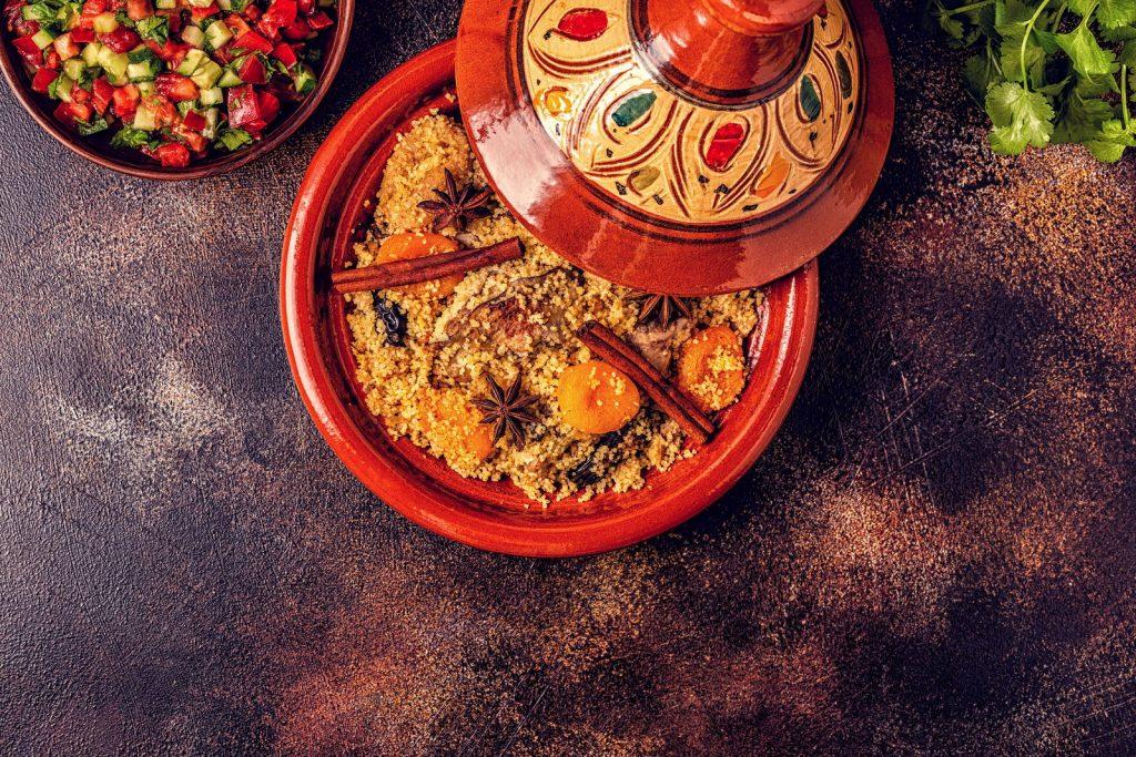 Receita de cuscuz marroquino com frutos secos