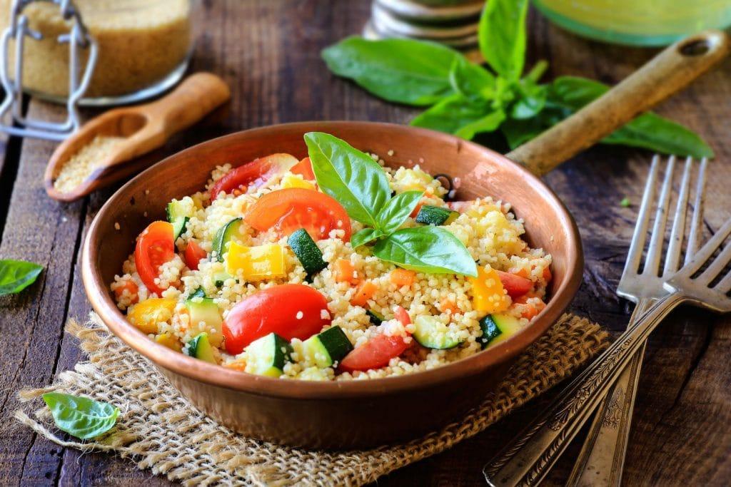 Receita de salada de cuscuz marroquino