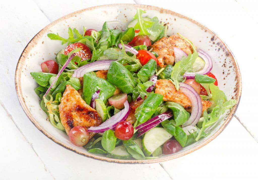 Receita de salada marroquina com frango