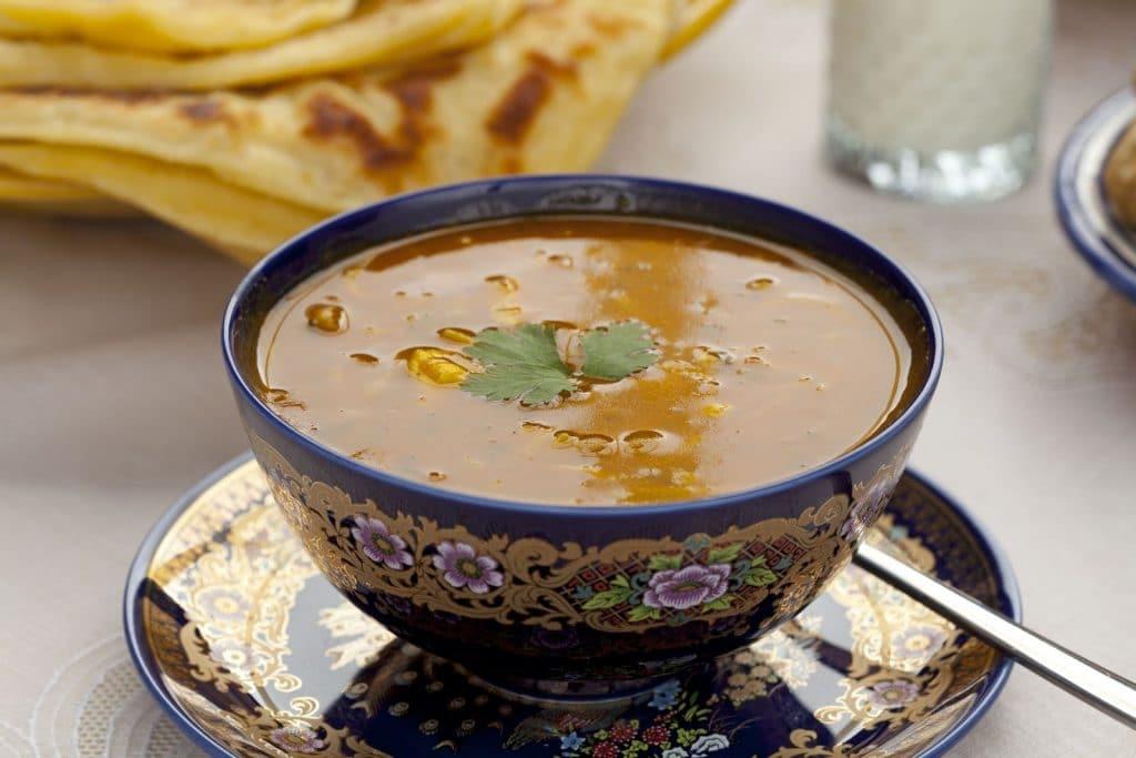 Receita de sopa marroquina de lentilhas