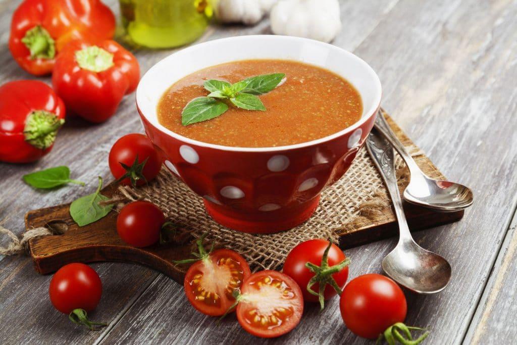 Receita de sopa marroquina de tomate