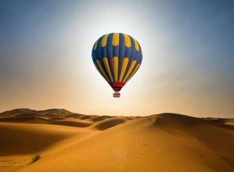 Viagem de balão de ar quente em Marrocos