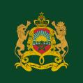 Bandeira com Escudo de Armas Real marroquino