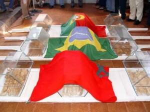 Bandeiras de Marrocos, Brasil e Portugal