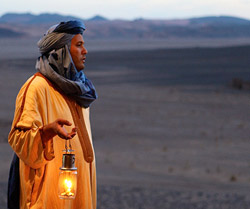 Berbere do deserto em Marrocos