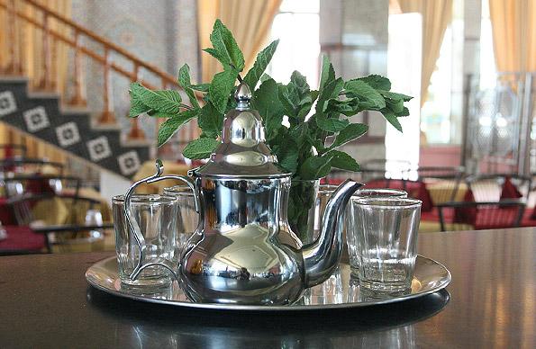 Chá de menta marroquino