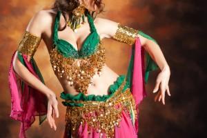 Pose de dança oriental