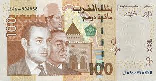 Nota de 100 dirhams marroquinos