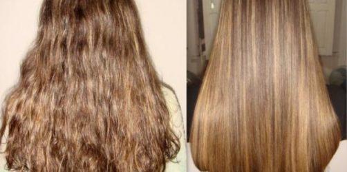 Efeito da Escova Marroquina no cabelo