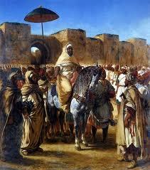 Sultão Moulay Sharif Abderrahmane pintura de Delacroix