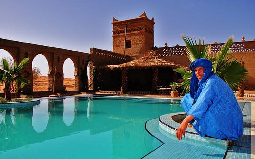 Auberge Café du Sud, Hotel no Deserto do Saara, Marrocos