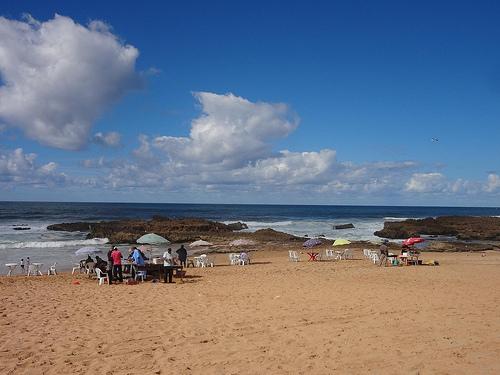 Praia de Oualidia em Marrocos
