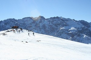 Neve em Oukaimeden Marrocos