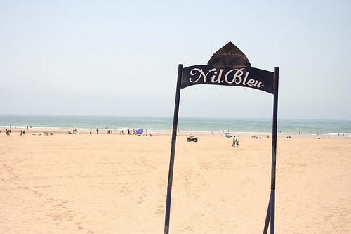 Praia de Agadir em Marrocos