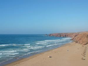 Praia de Aglou em Marrocos