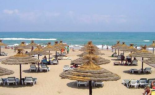 Praia de Saidia em Marrocos