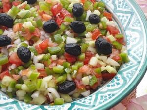 Salada marroquina com azeitonas